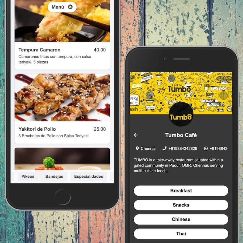 Quelques beaux designs de menus sur smartphone